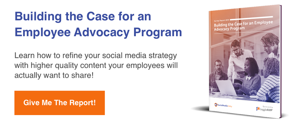 Employee advocacy survey report