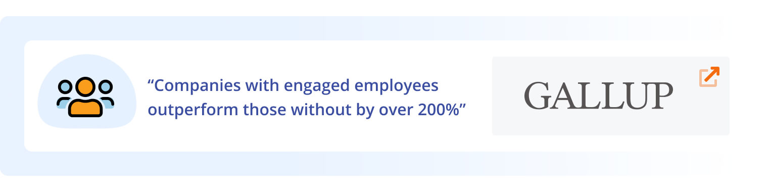 Companies with engaged employees outperform those without by over 200%