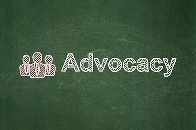 Law concept: Business People and Advocacy on chalkboard backgrou