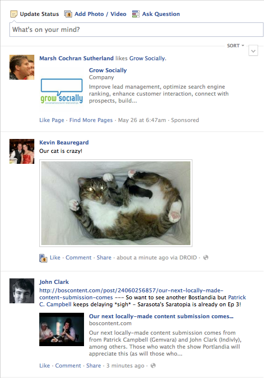 facebook newsfeed