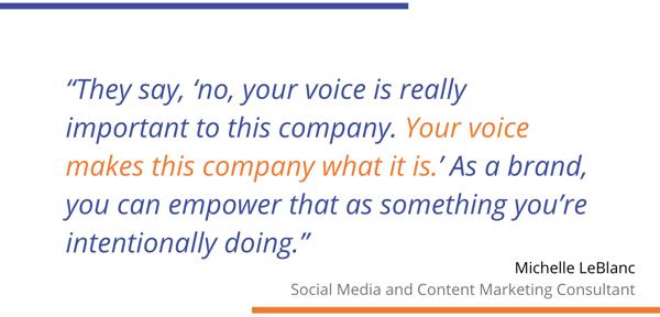 Michelle LeBlanc, your voice quote