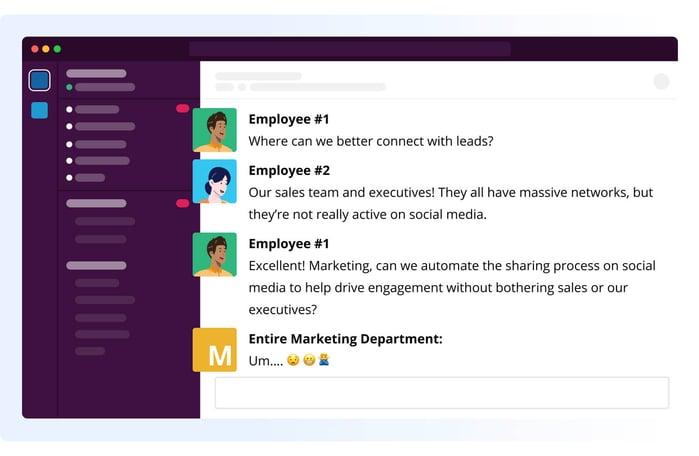 Slack Employees Sharing - Why Autosharing is bad
