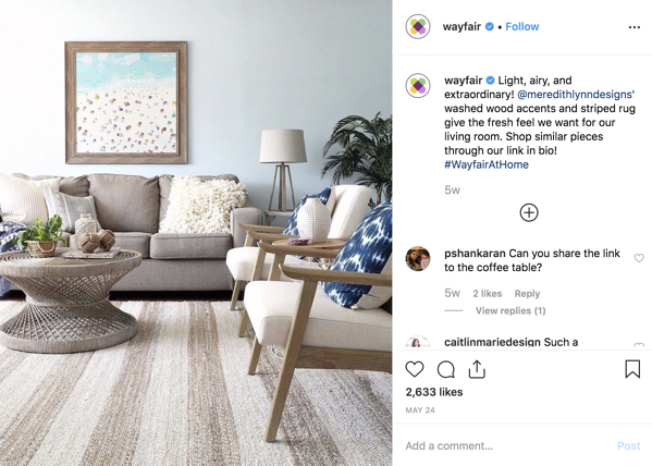 Wayfair User Generated Content